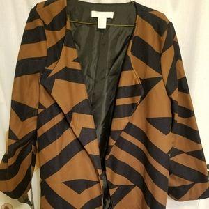 Brown and Black Light Coat